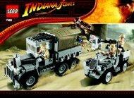 Lego Race for the Stolen Treasure - 7622 (2008) - Ambush in Cairo BUILDING INSTR. FOR 7622