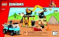 Lego LEGO® Juniors Construction - 10667 (2014) - Vehicle Suitcase BI 3003/32-10667 BOOK 1/2 V39