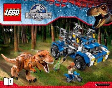 Lego T. rex Tracker - 75918 (2015) - Pteranodon Capture BI 3016/52-65G -75918 V29 1/2