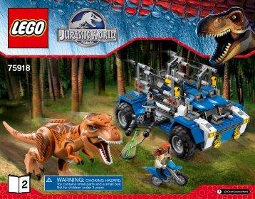 Lego T. rex Tracker - 75918 (2015) - Pteranodon Capture BI 3016/64+4/65+115g 75918 V39 2/2