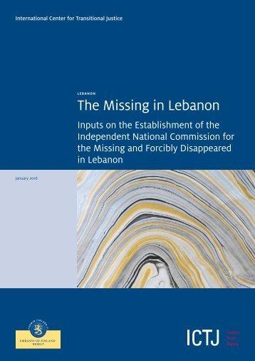 The Missing in Lebanon