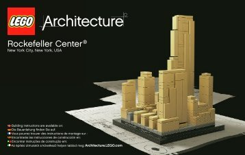 Lego Rockefeller Plaza® - 21007 (2010) - Willis Tower BI 3004/56+4-GLUED - 21007 V29