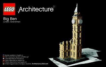 Lego Big Ben - 21013 (2012) - Robie™ House BI 3004/56+4/115+150g - 21013 V29