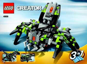 Lego Monster Dino - 4958 (2007) - Fast flyers BUILD INSTR 3006, 4958 3/3