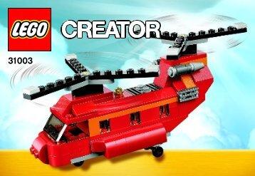 Lego Red Rotors - 31003 (2013) - Year of the snake BI 3010/56-65G, 31003 V39 1 af 3
