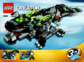 Lego Monster Dino - 4958 (2007) - Fast flyers BUILD. INSTR. 3006, 4958 2/3