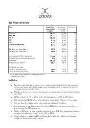 Preliminary Full Year Results 2007 - Xstrata