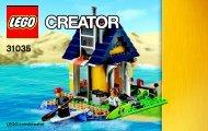 Lego Beach Hut - 31035 (2015) - Red Go-Kart BI 3004 60/ 31035 V29 2/3