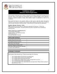 Fall/Winter 2016-17 Entrance Award Application
