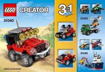 Lego Desert Racers - 31040 (2015) - Desert Racers BI 3001/32, 31040 V39