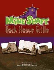 Rock House Menu - Mine Shaft