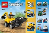 Lego Construction Vehicles - 31041 (2015) - Desert Racers BI 3001/32, 31041 V29