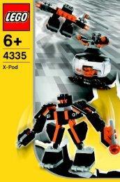Lego Black Robots Pod - 4335 (2004) - Wild Collection BI, 4335