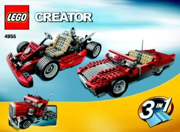 Lego Big Rig - 4955 (2007) - Fast flyers BUILD. INSTR. 3006 4955 2/2