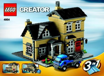 Lego Model Townhouse - 4954 (2007) - Fast flyers BUILD INSTR 3006, 4954 3/3 IN