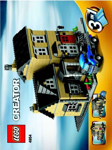 Lego Model Townhouse - 4954 (2007) - Fast flyers BUILD INSTR 3006, 4954 3/3 NA