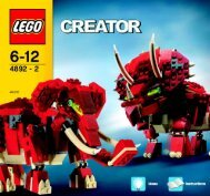 Lego Prehistoric Power - 4892 (2006) - Prehistoric Power BUILD IN.3005Art.4892SUB.IN2/2
