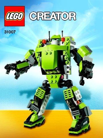Lego Power Mech - 31007 (2012) - Year of the snake BI 3022 / 64+4 - 65/115g,31007  V39 1AF3