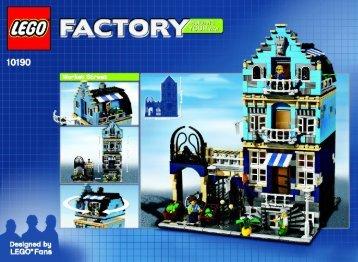 Lego Market Street - 10190 (2007) - LEGO® Hobby Train BI  10190