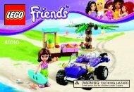 Lego Olivia's Beach Buggy - 41010 (2013) - Heartlake Pet Salon BI 3001/32 - 41010 V39