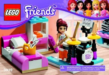 Lego Mia's Bedroom - 3939 (2012) - Andrea's Bunny House BI 3001/32 - 3939 V39