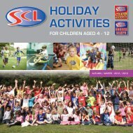 for children aged 4 - 12 holiday activities - SCL