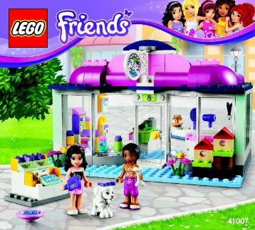 Lego Heartlake Pet Salon - 41007 (2013) - Heartlake Pet Salon BI 3017 / 72+4 - 65/115g,41007 V29