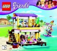 Lego Stephanie's Beach House - 41037 (2014) - Olivia's Ice Cream Bike BI 3017 / 56 - 65g - 41037 V29 BOOK 1/2