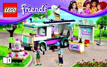 Lego Heartlake News Van - 41056 (2014) - Turtle's Little Paradise BI 3004/44 - 41056 V29 BOOK 1/2