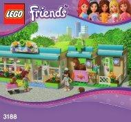 Lego Heartlake Vet - 3188 (2012) - City Park Café BI 3005/80+4*-3188 V39