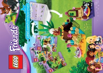Lego Turtle's Little Oasis - 41019 (2013) - Heartlake Pet Salon 41017 + 41018 + 41019