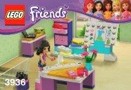 Lego Emma's Fashion Design Studio - 3936 (2012) - Olivia's House BI 3001/28-65G-3936 V29