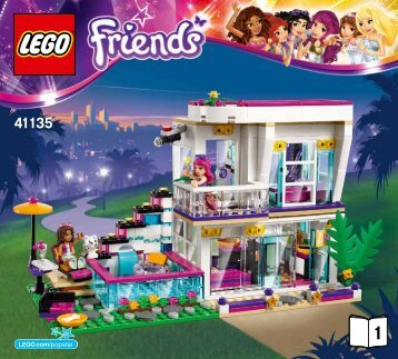 Lego Livi's Pop Star House - 41135 (2016) - Party Styling BI 3017 / 32 - 65g - 41135 V29 BOOK 1/3