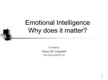 Emotional Intelligence - Population Leadership Program