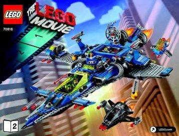 Lego Benny's Spaceship, Spaceship, SPACESHIP! - 70816 (2014) - MetalBeard's Sea Cow BI 3019/80+4*- 70816 V39 BOOK 2/2