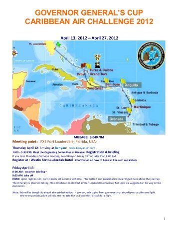 GOVERNOR GENERAL'S CUP CARIBBEAN AIR CHALLENGE 2012