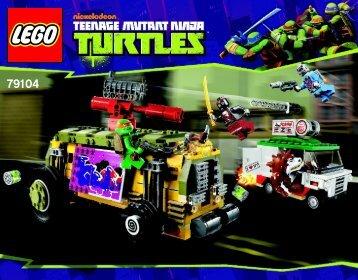 Lego The Shellraiser Street Chase - 79104 (2013) - Kraang Lab Escape BI 3016 80+4*-  79104 V110
