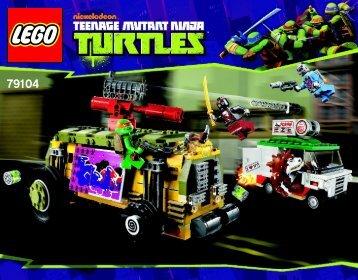 Lego The Shellraiser Street Chase - 79104 (2013) - Kraang Lab Escape BI 3016/76+4*- 79104 V29