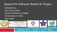 Appeal for Knitwear Board at Tirupur