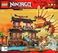 Lego Fire Temple - 2507 (2011) - Spinjitzu Dojo BI 3005/60 - 2507 V29/39 1/3