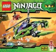 Lego Rattlecopter - 9443 (2011) - Lava Falls BI 3005/80+4*- 9443 V29