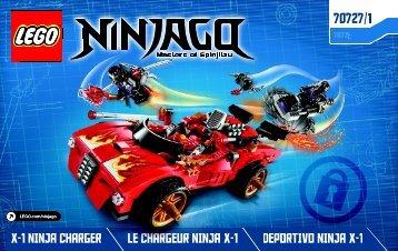 Lego X-1 Ninja Charger - 70727 (2014) - OverBorg Attack BI 3004/24 - 70727 1/2 V39