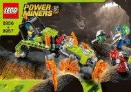 Lego Mine Mech - 8957 (2009) - Power Miners 8956 + 8957 Cave Cutter