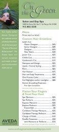 Custom Hair Creations - On The Green Salon and Day Spa