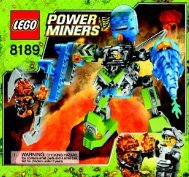 Lego Magma Mech - 8189 (2009) - Power Miners BI 3005/48 - 8189 V 39