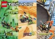 Lego Turbo Racer - 8307 (2000) - Battle Cars BUILDING INSTR.8307