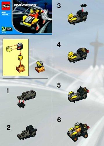 Lego Track Racer - 8360 (2003) - BLUE RACER BI 8360