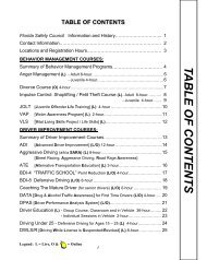 TABLE OF CONTENTS - Florida Safety Council