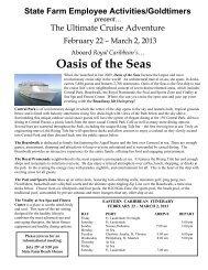 Bromenn Cruise Proposal - for the SFEA Goldtimers Retiree Club