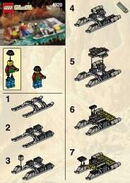 Lego The Rapid Rider - 4920 (1999) - The Hover Scout BUILDING INST. FOR 4920